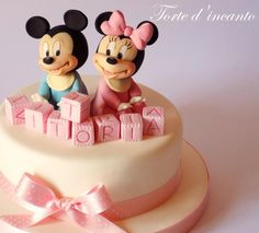 Baby Minnie and Michey Mouse - Cake by Torte d'incanto