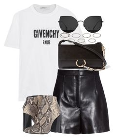 """""""Untitled #3747"""" by theeuropeancloset ❤ liked on Polyvore featuring Givenchy, Balenciaga, Shellys, Chloé, Akira and Gentle Monster"""