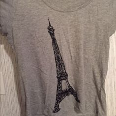 Eiffel Tower tee Eiffel Tower Tee. It is short sleeve, stretchy, and comfortable! Old Navy Tops Tees - Short Sleeve