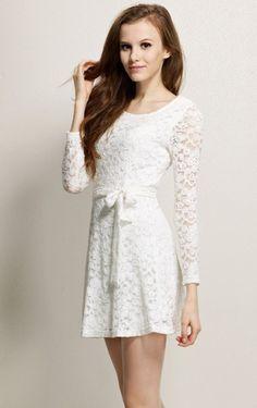vestido blanco cortos con manga larga