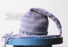 Newborn Knit Hat Elf Nightcap Baby with Tassel by yippyyarns, $30.00  newborn photography props