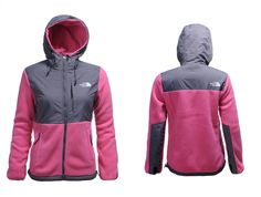 North Face Hoodie Jacket Womens High Quality TNF Pink Shine Gray
