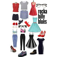 Rockabilly fashion ;) swing dresses and floral