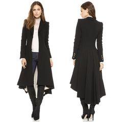 Fesselnd 2017 Steampunk Vintage Ladies Swallow Tail Long Coat Blazer Suits Jacket  Anziehen, Abendkleid, Kleidung