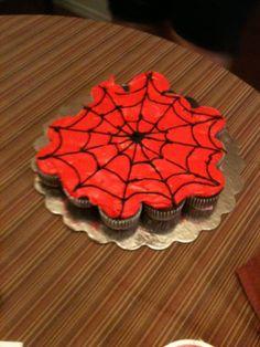 My Spiderman cupcake cake.