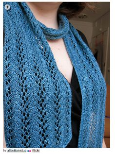 Sock yarn patterns - Strangling Vine Lace Scarf by Nicole Hindes