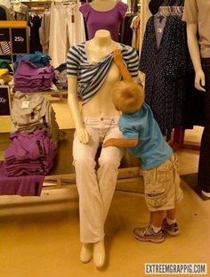 Omg! Brandon did this in the store once when he was 3! So embarrassing...lol