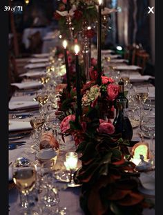 Beautiful vintage feel to the table centerpieces. Love the use of long tables instead of circular.