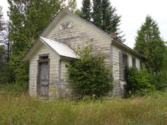 This was the Faraday Community Centre on Faraday Road near Bancroft, Ontario. Someone had been living there but abandoned it.