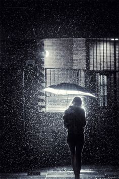 I'm beautifully broken, perfectly imperfect, beautiful in my flaws. All together I am a beautiful disaster. Walking In The Rain, Singing In The Rain, Rainy Night, Rainy Days, Night Rain, Rain Photography, Street Photography, Arte Black, I Love Rain