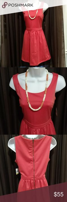 NWT Beautiful Coral Dress by Maison Jules Size M Perfect coral color for year around use, goes well with every color in the rainbow and then some! Maison Jules Dresses
