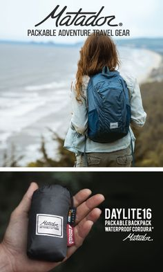 Daylite16 Backpack: An ultralight weatherproof backpack to carry all your daily essentials. Perfect for travel, day trips, and hikes. Packs away to fit in the palm of your hand.