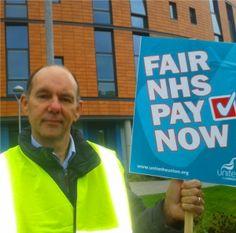 NHS staff strike at Salford Royal