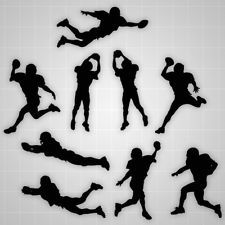 Football players wall silhouettes, boys football players decals,boys room decor