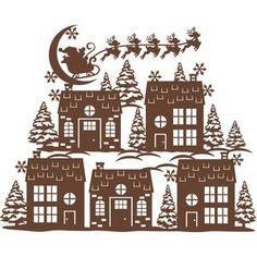 Silhouette Design Store - View Design #106525: christmas eve scene