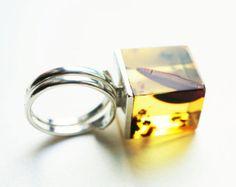 Luxus baltischen Bernstein Sterlingsilber Ring no.1630K