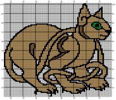 Celtic Cat Knitting Graph