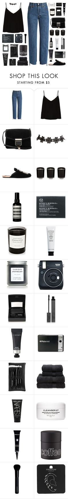 """""""There is nobody, no one outrun me"""" by pure-and-valuable ❤ liked on Polyvore featuring Vetements, Raey, Givenchy, Wet Seal, Gucci, Aesop, The Body Shop, Byredo, Bobbi Brown Cosmetics and SkinCare"""