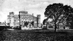 Old photograph of Eglinton Castle, Ayrshire, Scotland