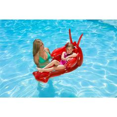 Poolmaster Lobster Swimming Pool Float - The Home Depot Above Ground Pool, In Ground Pools, Baby Swimming, Swimming Pools, Luau Pool Parties, Pool Fun, Pool Floats For Kids, Baby Float, Pool Cabana