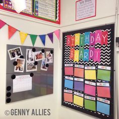 Classroom Decor: Birthday Board + Teacher Corner  TPT: Genny Allies Instagram: @mrs.allies