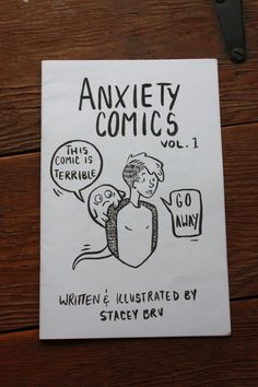 Hand printed comic zine about my struggles with anxiety and mental illness. Youll laugh! Youll cry! Youll wish anxiety was actually a little monster
