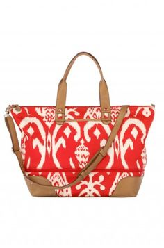 Stella & Dot Red Ikat  Perfect going away bag and reminds me of Morocco where i'm heading soon!