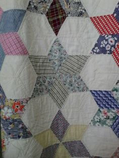 LeMoyne Star. Gteat scrappy quilt from southern Indiana.