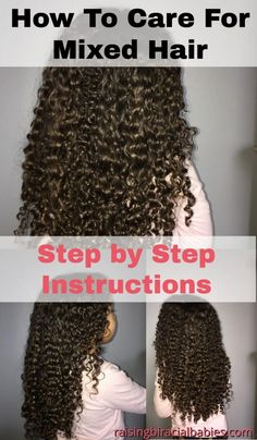 Biracial hair requires specific products and care. Learn what the best products are and how to care for it with this mixed hair care routine. Mixed Curly Hair, Mixed Hair Care, Boys With Curly Hair, Curly Hair Tips, Curly Hair Care, Curly Hair Styles, Natural Hair Styles, Curly Kids, Natural Curls