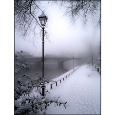 Baby It's Cold outside~~ / winter scene via Polyvore