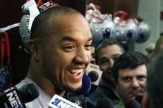 New England Patriots wide receiver Michael Floyd speaks to media at his locker after NFL football practice, Wednesday, Jan. 11, 2017, in Foxborough, Mass. (AP Photo/Elise Amendola)
