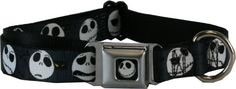 Buckle Down Jack Skellington Nightmare Before Christmas Jack Expressions Large Gray Dog #Collar