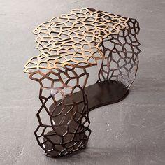 """David Wiseman, USA, 2012  Unique Lattice Ribbon table in bronze.    41"""" L x 21"""" W x 22.25"""" H  /  104.14cm L x 53.34cm W x 56.52cm H"""