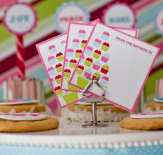 free printable baking gift tags | Spiced