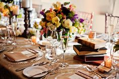 wedding reception table top books flowers rustic elegant, Fairmont Sonoma Mission Inn wedding, Sonoma California wedding, Shannon Stellmacher photography