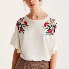 Bilderesultat for shirt with embroidered sleeves