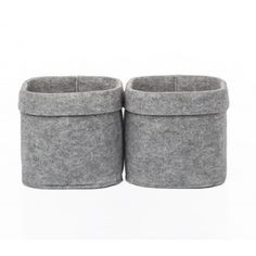 Set of two felt boxes with felt hanger strap.