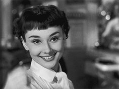 Audrey Hepburn's medium thickness arched brows