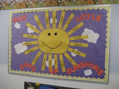 """Our Little Rays of Sunshine!"" Summer Bulletin Board"