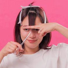 Hair Cutting Videos, Hair Cutting Techniques, Hair Videos, Short Hair Styles Easy, Medium Hair Styles, Curly Hair Styles, Kawaii Hairstyles, Hairstyles With Bangs, Korean Short Hair