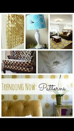 Accents,  texture, patterns, gold.