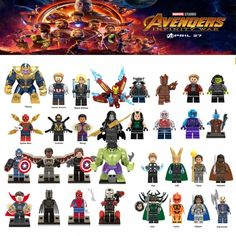 Diy For legoing Marveled Super Heroes Thanos Spider Man Iron Man Thor Loki Avengers 3 Infinity War Building Blocks Toys Figures Iron Man Avengers, Marvel Avengers, Thanos Marvel, Ms Marvel, Justice League Marvel, Lego Marvel Heroes, Spiderman, Thanos Iron Man, Die Rächer