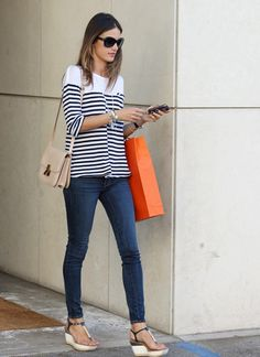 Always love a good stripe paired with a well fitting jean.