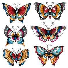 Traditional Butterfly Tattoo, Traditional Tattoo Art, Traditional Tattoo Hummingbird, Traditional Flash, American Traditional, Traditional Paintings, Butterfly Tattoo Cover Up, Butterfly Tattoos For Women, 16 Tattoo