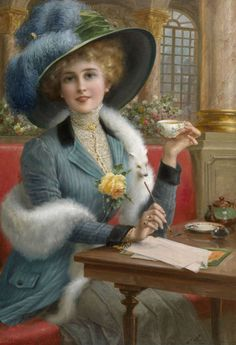 Emile Vernon (French, 1872 - 1919) Cup of tea.