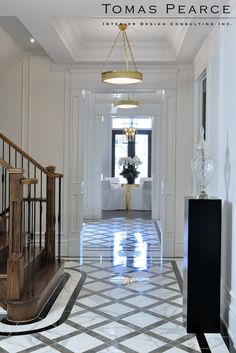 Hall   Tomas Pearce Interior Design Consulting Inc