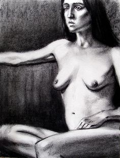 Figure Drawing 4, charcoal