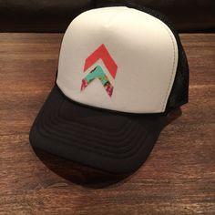 6ccd692ca344c Single stacked chevron women s trucker hat. SnapBack