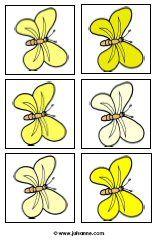 Juf Sanne Lesidee: Vlinders van licht naar donker 6 plaatjes