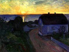 bofransson:Sunrise in ÅsgårdstrandEdvard Munch - 1893-1894